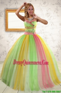 Fast Delivery Ball Gown Sweet 16 Dresses in Multi Color for 2015
