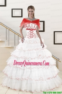 Luxurious Ruffeld Layers 2015 Quinceanera Dresses with Strapless