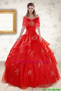 Luxurious Strapless Quinceanera Dresses with Appliques