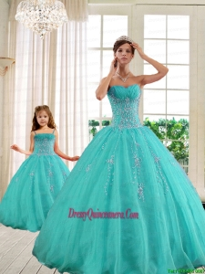 2015 Classical Turquoise Princesita With Quinceanera Dresses with Beading