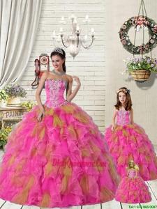 2015 Top Seller Multi Color Princesita Dress with Ruffles and Beading