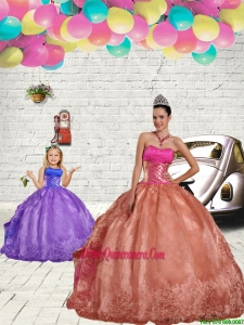 2015 Discount Beading and Embroidery Rust Red Princesita Dress