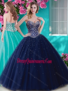 72752aee7a4 ... Quinceanera Gowns in Navy Blue.  657.15 245.86. Artistic Big Puffy  Tulle Sweet 16 Dress with Beading and Rhinestone