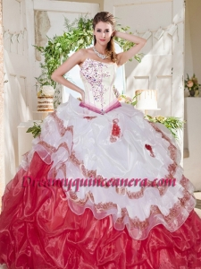 Popular Big Puffy Bubble Beaded and Ruffled Quinceanera Dress with Asymmetrical Neckline