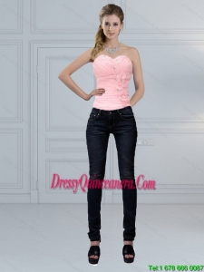 The Most Popular Baby Pink Sweetheart Beading Corset for 2015