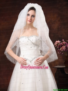 2012 Inspired 4 Layers White Bridal Veil On Sale