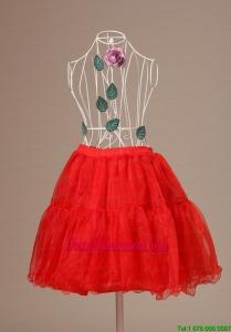 Mini Length Hot Selling 2013 Red Petticoat