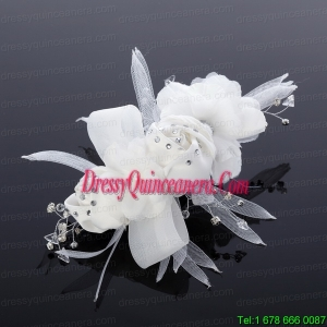Cheap Tulle Rhinestone Hair Flower for Wedding