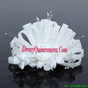 Elegant Tulle Wedding Party Fascinators with Imitation Pearls