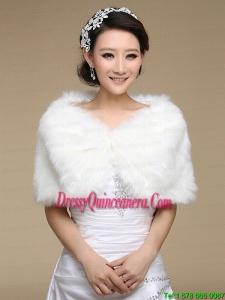 Pearl Front Closure Rabbit Fur 2015 Pretty Shawls