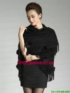 The Brand New Style Black Knitted Fabric 2015 Wraps