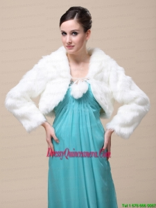 Low Price Rabbit Fur Special Jacket In Ivory With High Neck