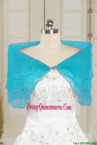 2014 Fall New Style Aqua Blue Shawls with Beading