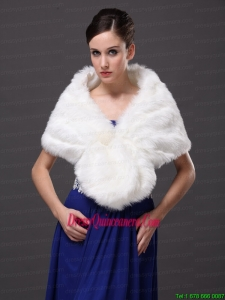 Button Gorgeous Faux Fur Trumpet/ Mermaid V Neck Wraps / Shawls