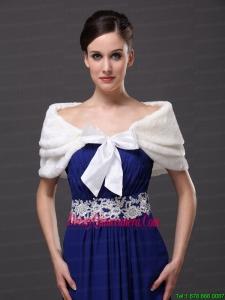 Genuine Bowknot Off Shoulder White Prom Wraps / Shawls
