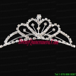 Princess Tiara With Shining Rhinestones