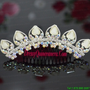 Custom Made Tiara With Beaded and Rhinestones Decorate