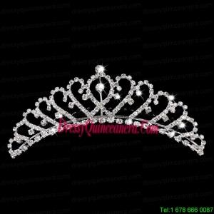 Dazzling Rhinestone Sweetheart Bridal Tiara