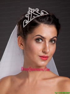 Popular Triangle Alloy Tiara With Beading Decorate