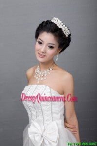 Mysterious Alloy Pearl Rhinestone Ladies Jewelry Sets
