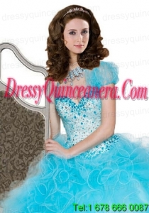 New StyleRuffles Baby Blue Special Occasion Quinceanera Jacket