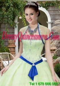 The Super Hot Tulle Beading and Sequins Quinceanera Jacket in Light Green