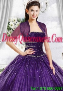 Top Selling High Quality Instock Purple Tulle Quinceanera Jacket