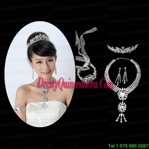 Elegant Alloy With Rhinestone Ladies Jewelry Sets