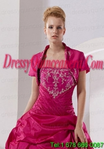 New Arrival Hot Pink Quinceanera Jacket with Open Front