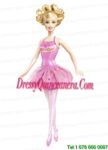 Beading Princess Mini-length Pink Barbie Doll Dress