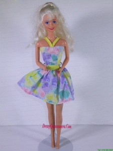 Beautiful Colorful Princess Dress for Noble Barbie