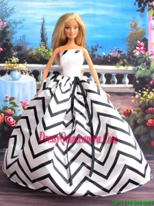 New Beautiful Handmade Party Clothes Fashion Dress For Noble Barbie