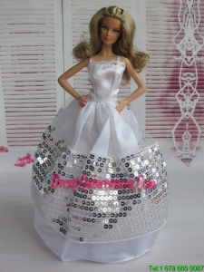 Ball Gown Party Clothes Sequins Barbie Doll Dress
