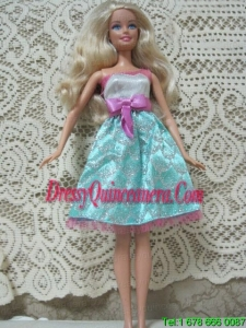 Fashion Princess Handmade Dress With Beading Knee-length Made to Fit the Barbie Doll