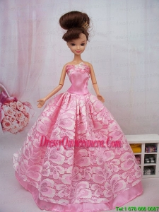 Popular Ball Gown Pink Barbie Doll Dress