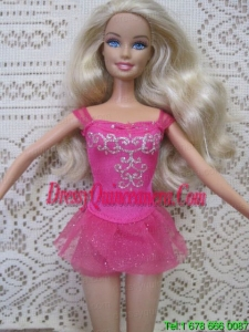 Sexy Short Handmade Mini Length Embroidery With Beading Party Dress For Barbie Doll