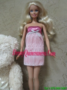 Sexy Short Mini Length Dress With Sequin Made To Fit the Barbie Doll