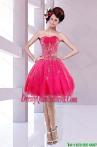 2015 Beautiful Sweetheart Dama Dress with Embroidery