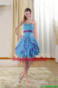 Beautiful Sweetheart 2015 Dama Dresses with Ruffles and Beading