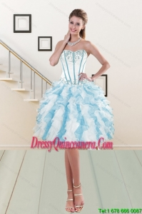 Popular Sweetheart Ruffled Dama Gown with Embroidery and Ruffles