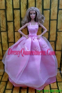Ball Gown Dress For Barbie Doll Dress With Lavender and Straps