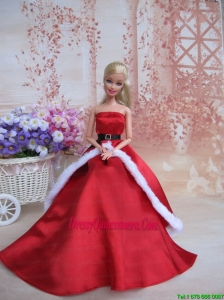 Elegant Party Dress For Noble Barbie With Belt