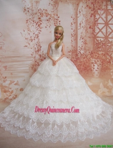 Exquisiste Wedding Dress To Barbie Doll Dress With Lace