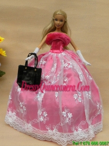 New Arrival Party Clothes Dress for Barbie Doll Girl Gift Free Shipping