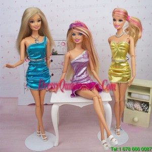 New Fashion Column Dress Gown Made to Fit the Barbie Doll