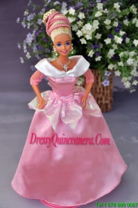 New Fashion Princess Pink Dress Gown For Barbie Doll