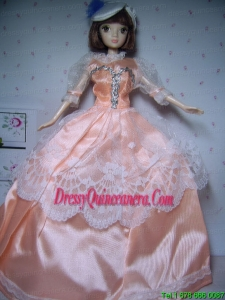 Elegant Orange Gowns Taffeta Made to Fit the Barbie Doll