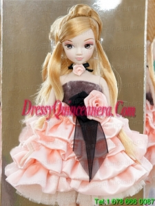 Elegant Party with Pink Taffeta Made to Fit the Barbie Doll