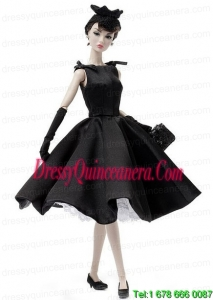 Fashion Handmade Black Barbie Party Dress For Barbie Doll