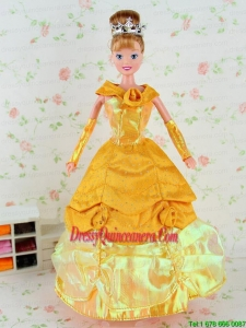 New Fashion Dress Tulle Taffeta Gown for Barbie Doll